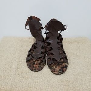 Brown gladiator sandles